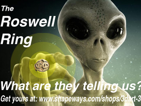 They are here! The Roswell Ring in Polished Bronzed-Silver Steel: 10 / 61.5