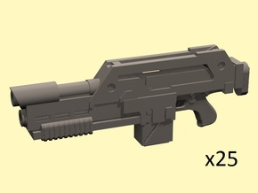 28mm laser rifle M41 x25 in Smoothest Fine Detail Plastic