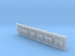 12 perronovergangs-signaler (uden mast) in Smooth Fine Detail Plastic