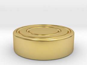 Big Capsa Ring (Cap) in Polished Brass