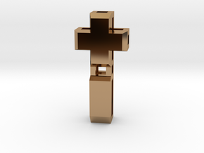 Realist cross in Polished Brass