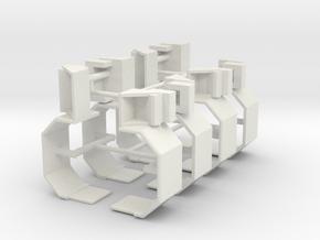 1/50th Twin steer fender, shorter versions in White Natural Versatile Plastic