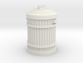 Garbage Can 1/24 in White Natural Versatile Plastic