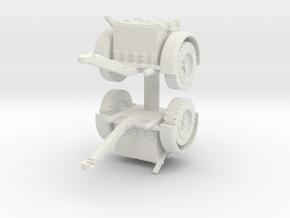 German Ammo Limber (x2) 1/87 in White Natural Versatile Plastic