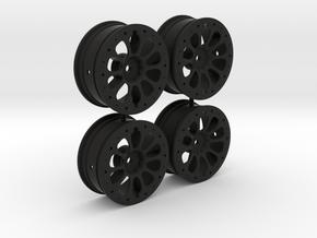 Tamiya F103GT Toyota Gazoo TS050 Wheelset in Black Natural Versatile Plastic