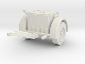 German Ammo Limber 1/72 in White Natural Versatile Plastic