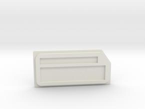 Prototype SX350 Box Mod Lid in White Natural Versatile Plastic