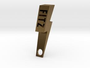 Personalize-able Lightning Bolt Bottle Opener in Natural Bronze