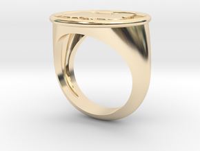 Angel Signet Ring Size 7.0 in 14K Yellow Gold