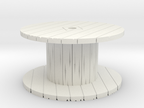 Cable Spool 1/56 in White Natural Versatile Plastic