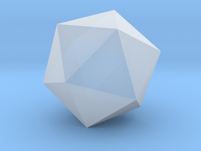 Icosahedron - Platonic Solid - 1in in Smooth Fine Detail Plastic