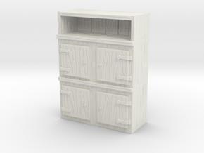 Wooden Cabinet 1/64 in White Natural Versatile Plastic