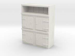 Wooden Cabinet 1/12 in White Natural Versatile Plastic