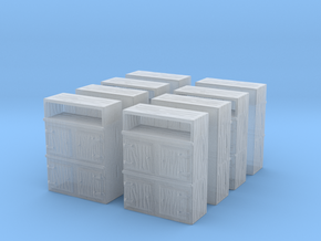 Wooden Cabinet (x8) 1/220 in Smooth Fine Detail Plastic
