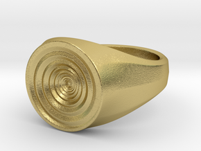 Whirlpool Ring in Natural Brass: 5 / 49