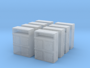 Wooden Cabinet (x8) 1/285 in Smooth Fine Detail Plastic