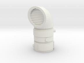 Pipeline Exhaust Vent 1/48 in White Natural Versatile Plastic