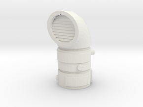 Pipeline Exhaust Vent 1/35 in White Natural Versatile Plastic