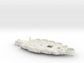 1/600 USS Nevada (1941) Casemate Deck in White Natural Versatile Plastic