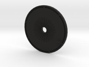 PROP PLATE in Black Natural Versatile Plastic