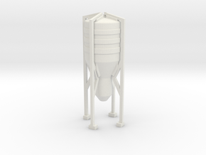 Grain Silo 1/120 in White Natural Versatile Plastic
