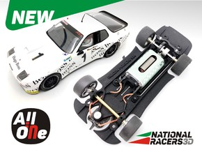 Chassis - Falcon Slot Cars Porsche 924 GTR  in Black Natural Versatile Plastic