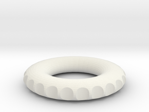 v2 double edge rodin coil frame  50x50x8,5mm in White Natural Versatile Plastic
