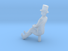 O Scale Sitting Man in Smooth Fine Detail Plastic