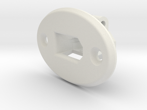XT60 Bracket with Face mount in White Natural Versatile Plastic