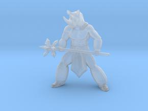 Soulcalibur Rock Rhino barbarian miniature DnD rpg in Smooth Fine Detail Plastic