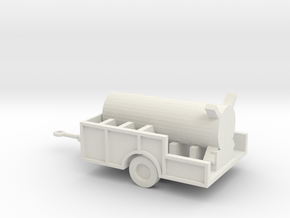 1/72 Scale Redstone Control Unit In Trailer in White Natural Versatile Plastic
