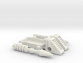 TF Titans Return upgrade kit for laserbeak buzzsaw in White Natural Versatile Plastic