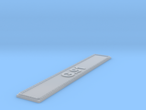 Nameplate G.91 in Smoothest Fine Detail Plastic