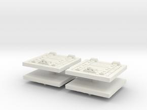 Wooden Trapdoor (x4) 1/76 in White Natural Versatile Plastic
