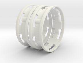 Beadlock ring 2.2-V2  -X2 in White Natural Versatile Plastic