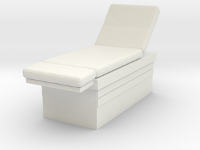 Medical Examination Table 1/48 in White Natural Versatile Plastic
