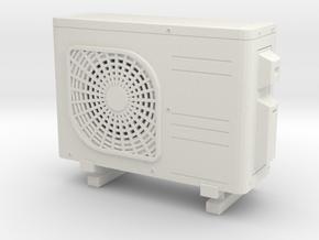 Air conditioner 01. 1:24 Scale in White Natural Versatile Plastic