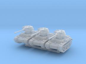 Panzer II L Puma turret (x3) 1/285 in Smooth Fine Detail Plastic