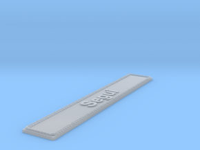 Nameplate Segui in Smoothest Fine Detail Plastic