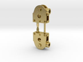 SE scale Crossheads. in Natural Brass