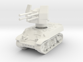 M3A3 with Flakvierling 38 1/100 in White Natural Versatile Plastic