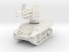 M3A3 with Flakvierling 38 1/48 in White Natural Versatile Plastic