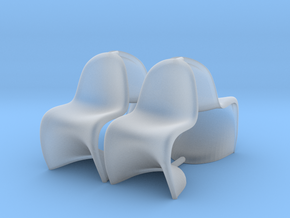 Chair 11. 1:48 Scale in Smooth Fine Detail Plastic