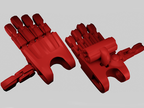B:JtO articulated hands [Toa-axle version] in Red Processed Versatile Plastic