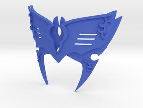 Marth Lucina Mask V7 in Blue Processed Versatile Plastic