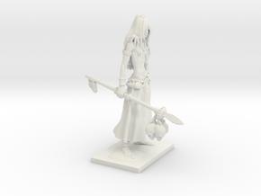 Fantasy Figures 17 - Druid in White Natural Versatile Plastic