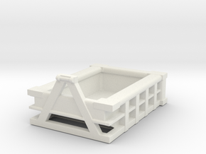 5Yd Construction Dumpster 1/72 in White Natural Versatile Plastic