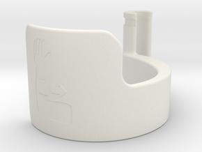 forearm door pull 19mm in White Natural Versatile Plastic