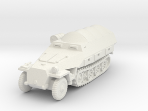 Sdkfz 251/8 D Ambulance (covered) 1/87 in White Natural Versatile Plastic