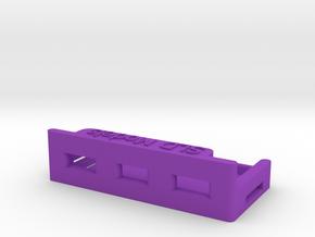 Schumacher Atom cc lipo holder cradle in Purple Processed Versatile Plastic